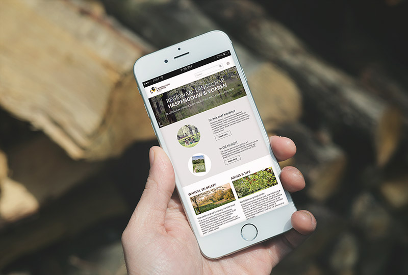 Website Regionaal Landschap Haspengouw & Voeren